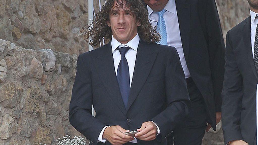 Carles Puyol en la boda de Iniesta y Anna Ortiz