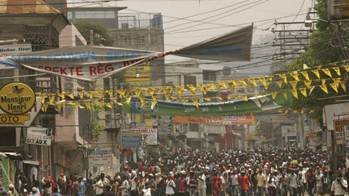 Protestas en Haití por el aumento del precio de los alimentos. Foto: EFE