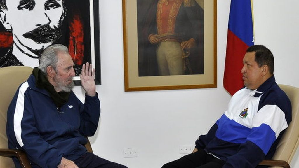 Chávez y Castro, en La Habana. Foto:EFE