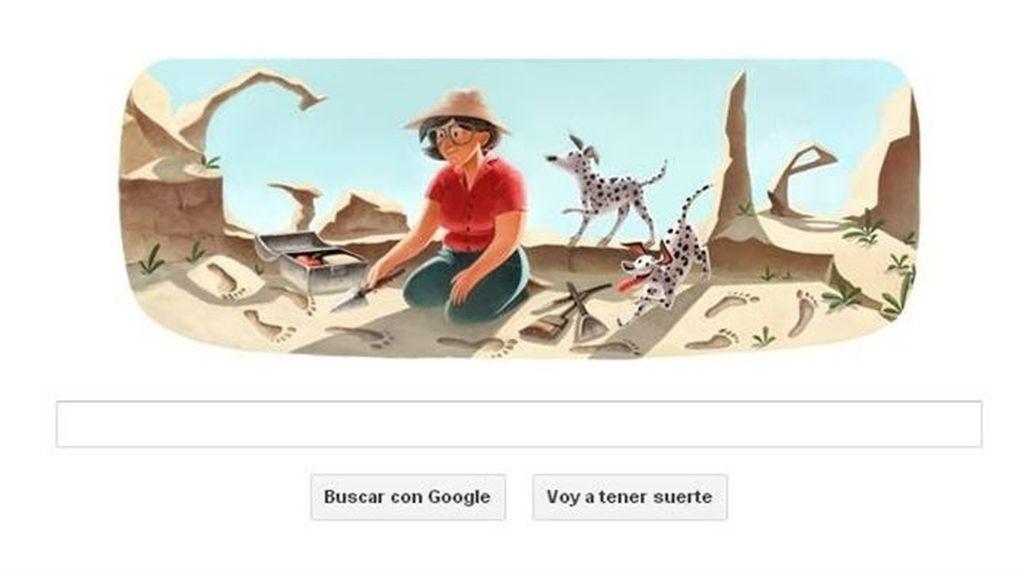 La antropóloga Mary Leakey realiza sus excavaciones en Google