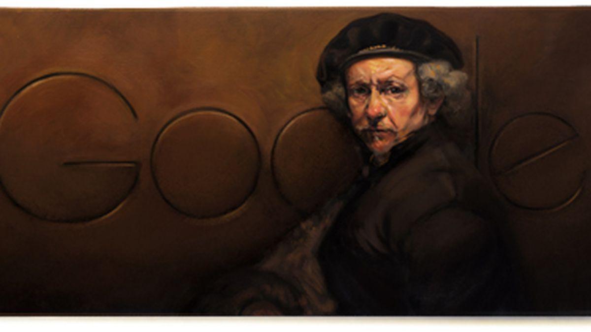 Rembrandt,en el doodle de Google