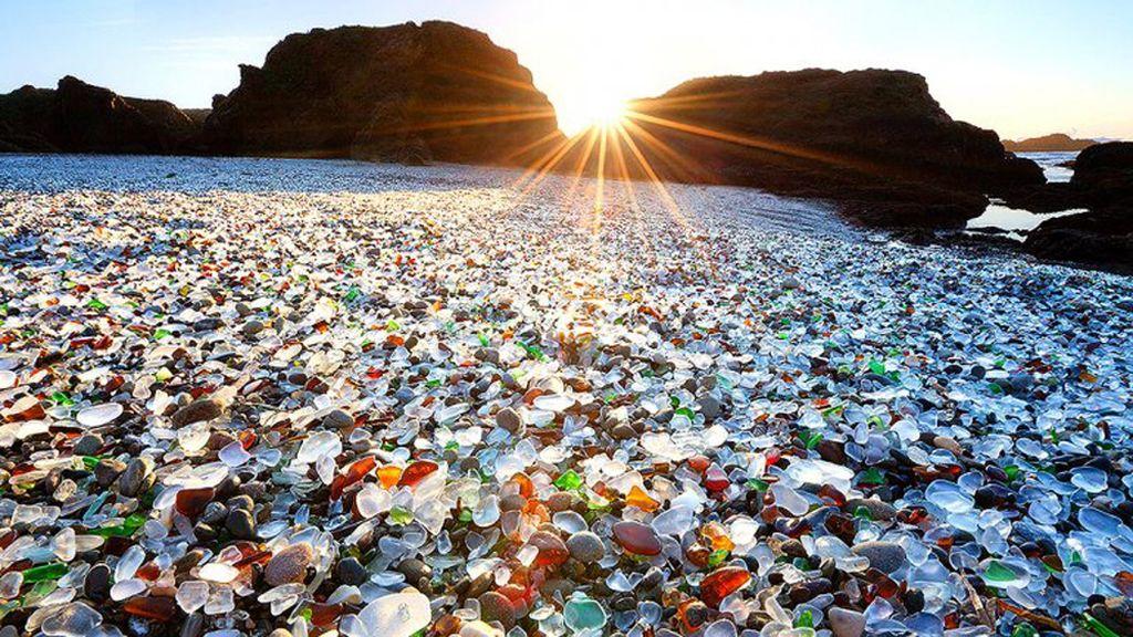 Unique Glass Beach, California