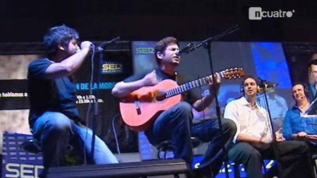 Gasol cantando con Estopa