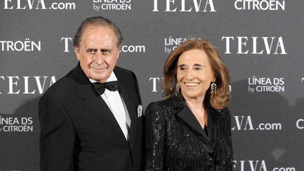 Jaime Peñafiel y su esposa