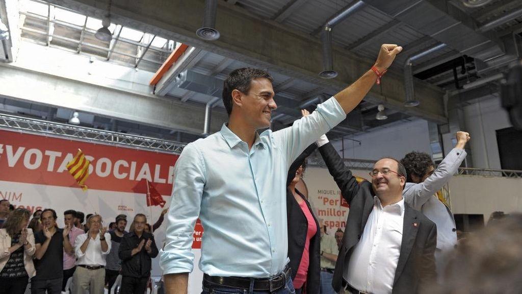 Pedro Sánchez en un acto del PSC en Tarragona