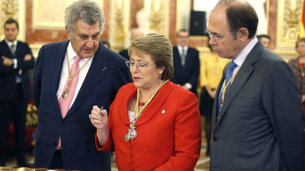 Michele Bachelet, presidenta de Chile, en el Congreso