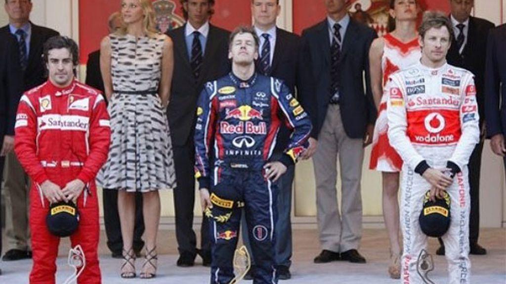 Vettel, Alonso y Button
