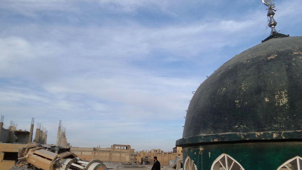 Bombardeo en Raqqa en noviembre de 2014