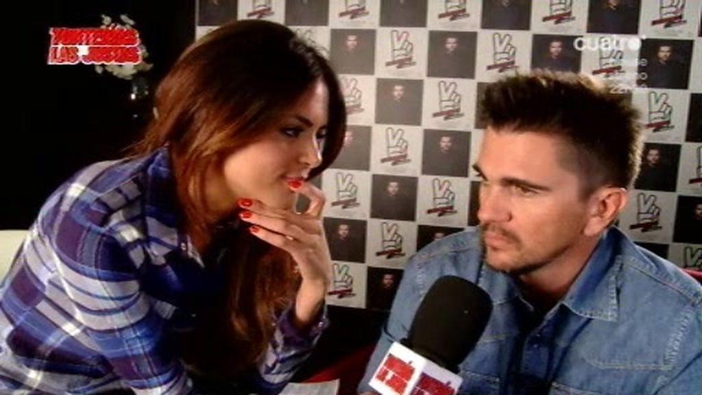 Romina en privado con Juanes