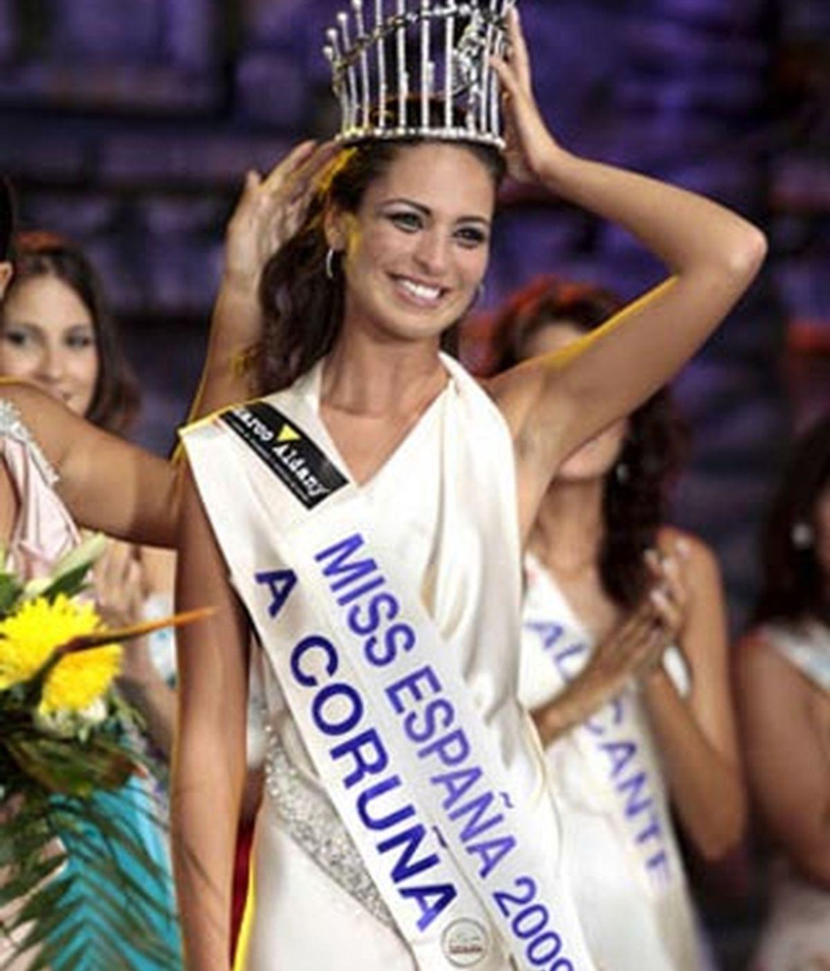 La coruñesa Estíbaliz Pereira fue elegida la española más guapa en 2009. Foto: EFE