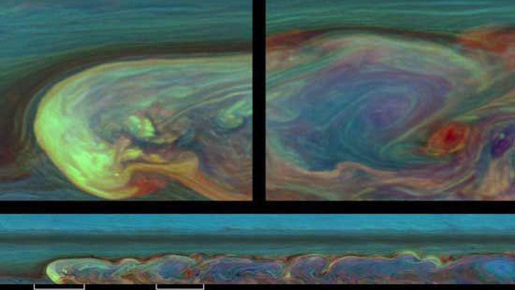 Espectacular tormenta en Saturno