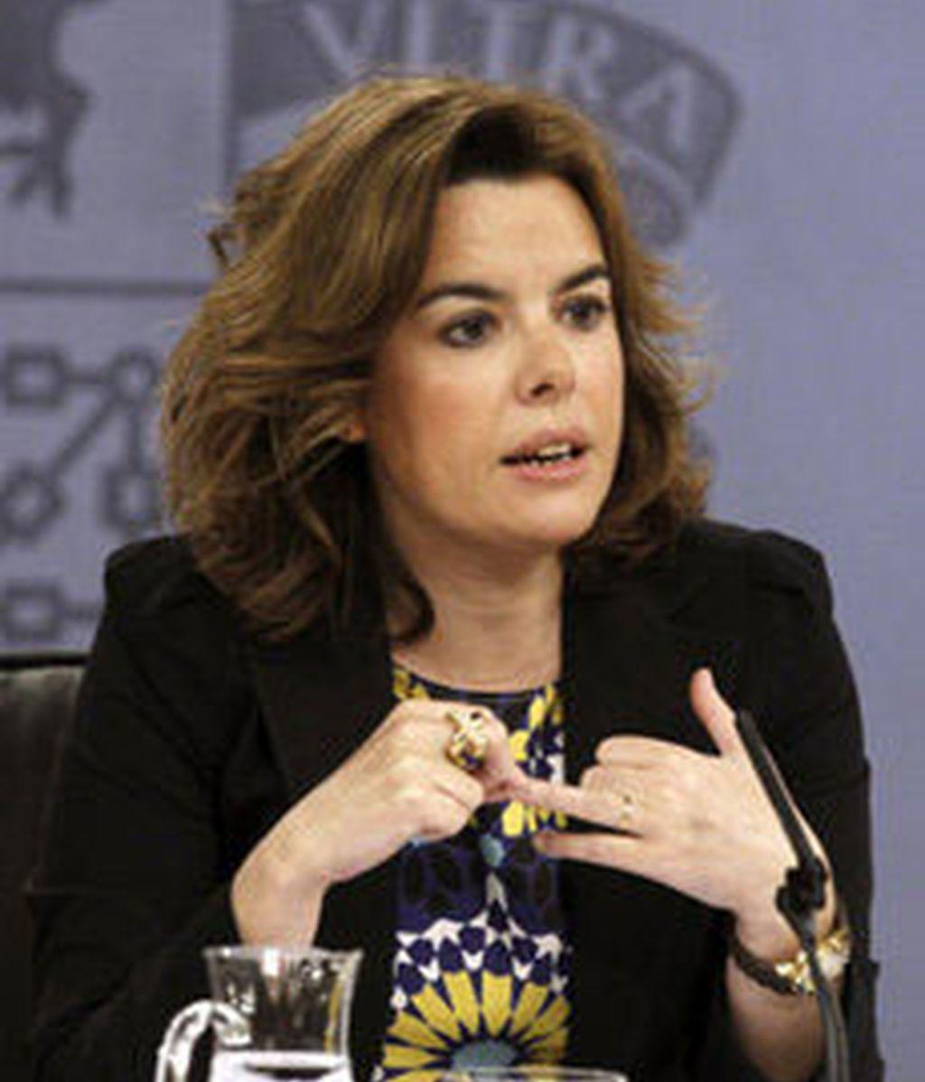 Soraya en el Consejo de Ministros
