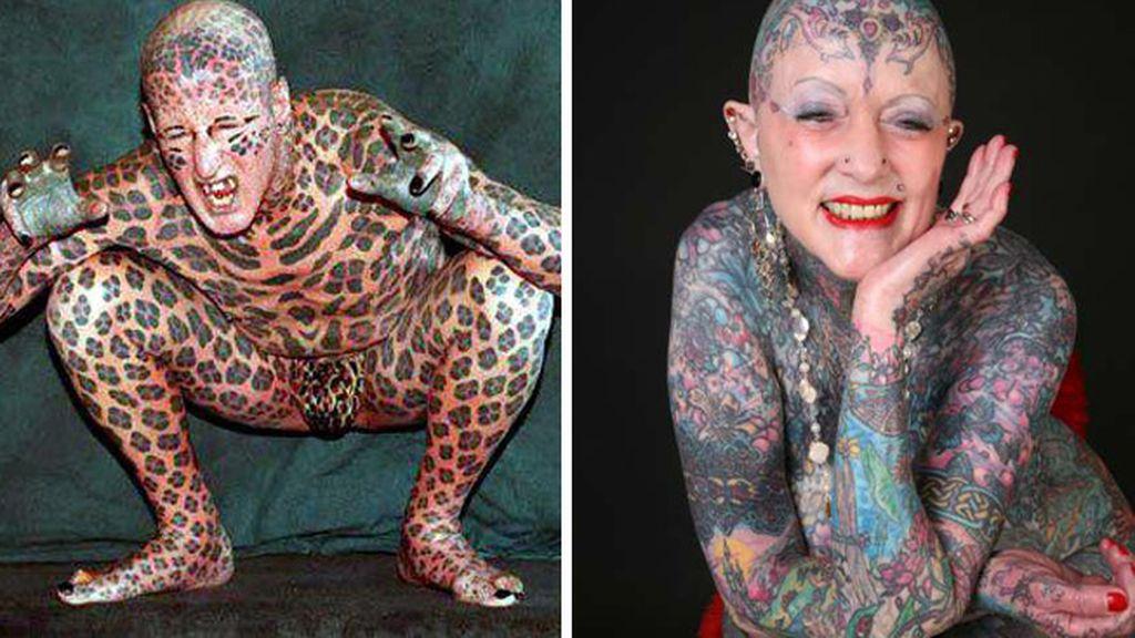 Las dos personas más tatuadas