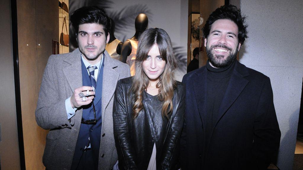 Fidel Delgado, Gala González y Miguel Carrizo