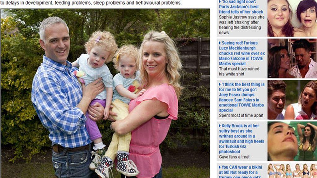 Dos gemelas inglesas no pueden jugar o ir de vacaciones por una extraña epilepsia