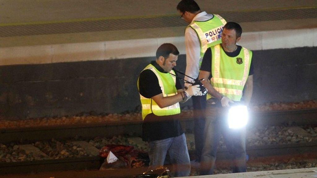 Accidente ferroviario en Castelldefels