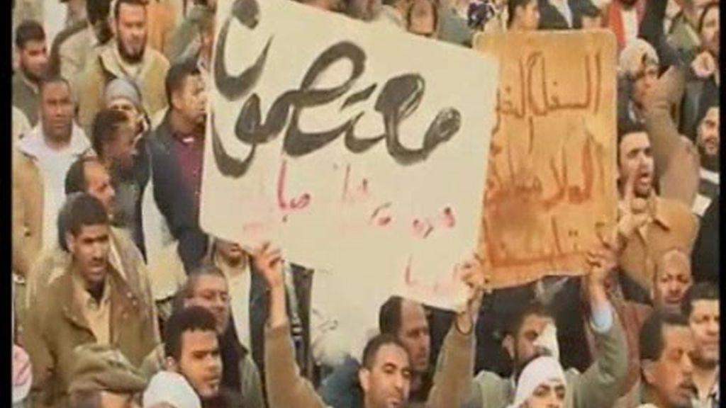 """Egipto se reúne para """"despedir"""" a Mubarak"""