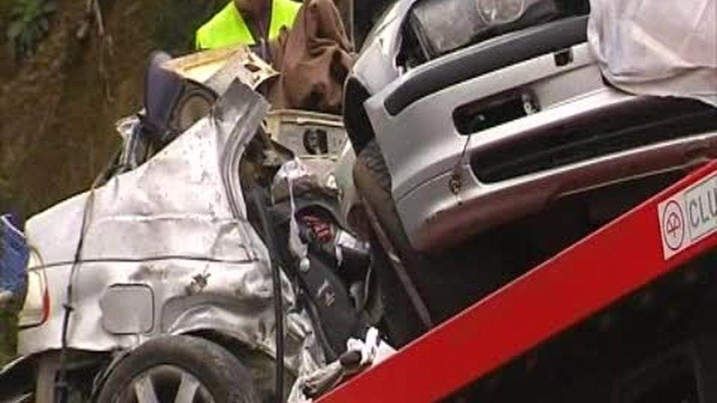 Tres mujeres muertas en un accidente en Pontevedra