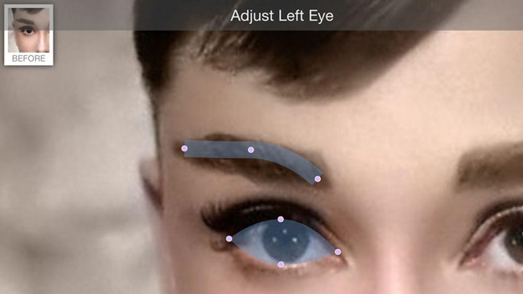 Paso 2: Situar el ojo izquierdo