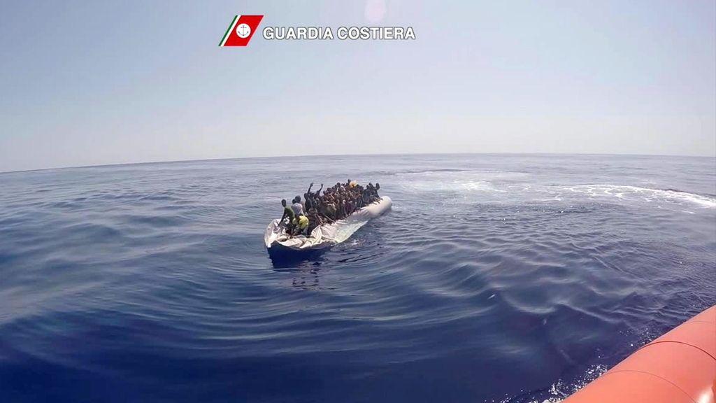 Italia rescata a 4.400 inmigrantes en el Mediterráneo