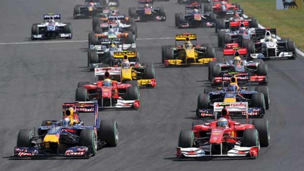 Alonso llegó a colocarse primero