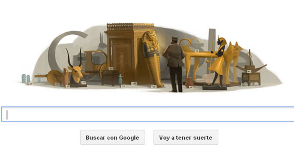 El logo de Google se esconde tras la tumba de Tutankamón