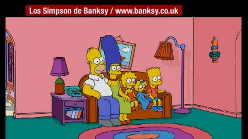 Polémicos 'Simpsons' de Banksy