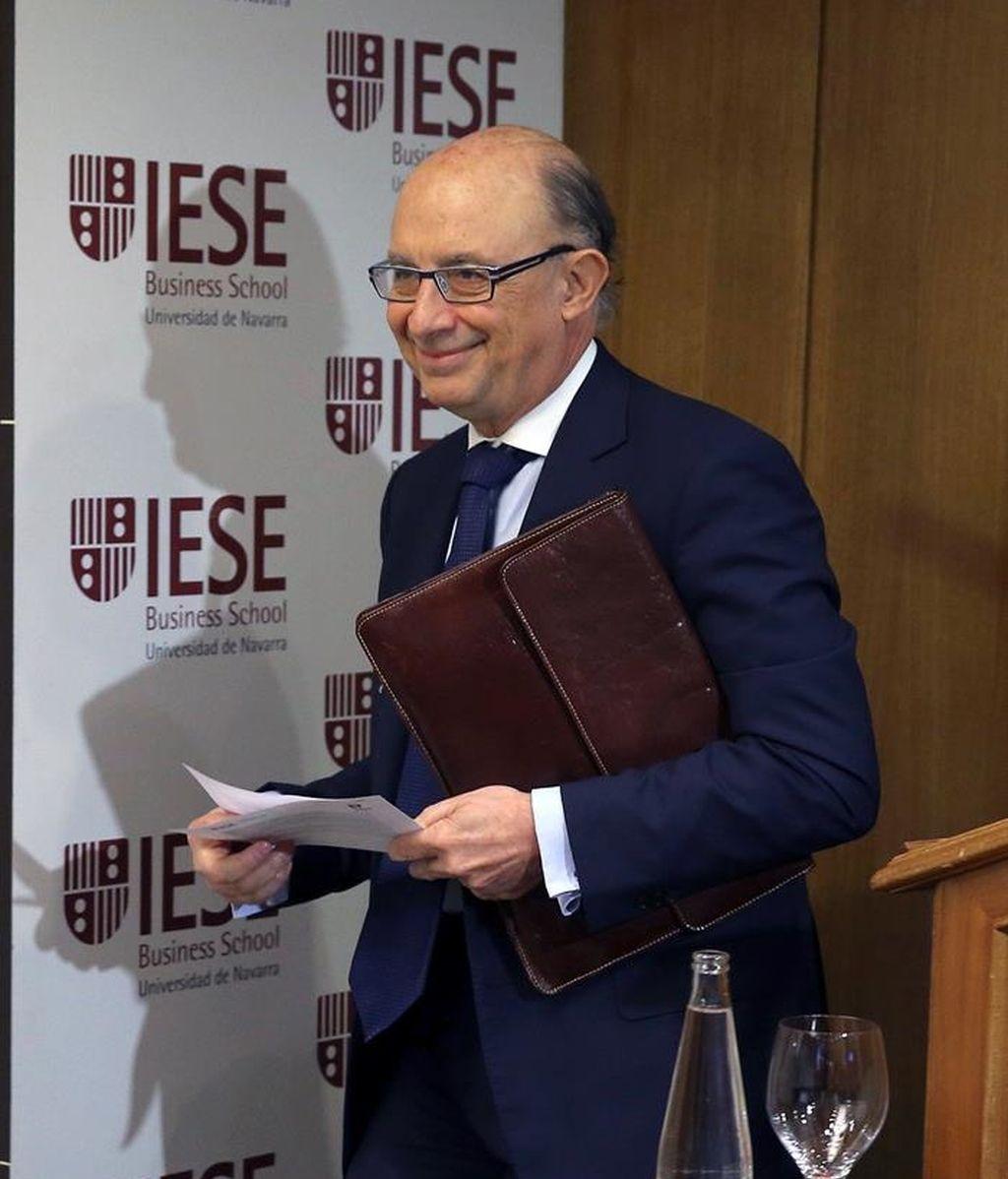 Cristóbal Montoro, ministro de Economía