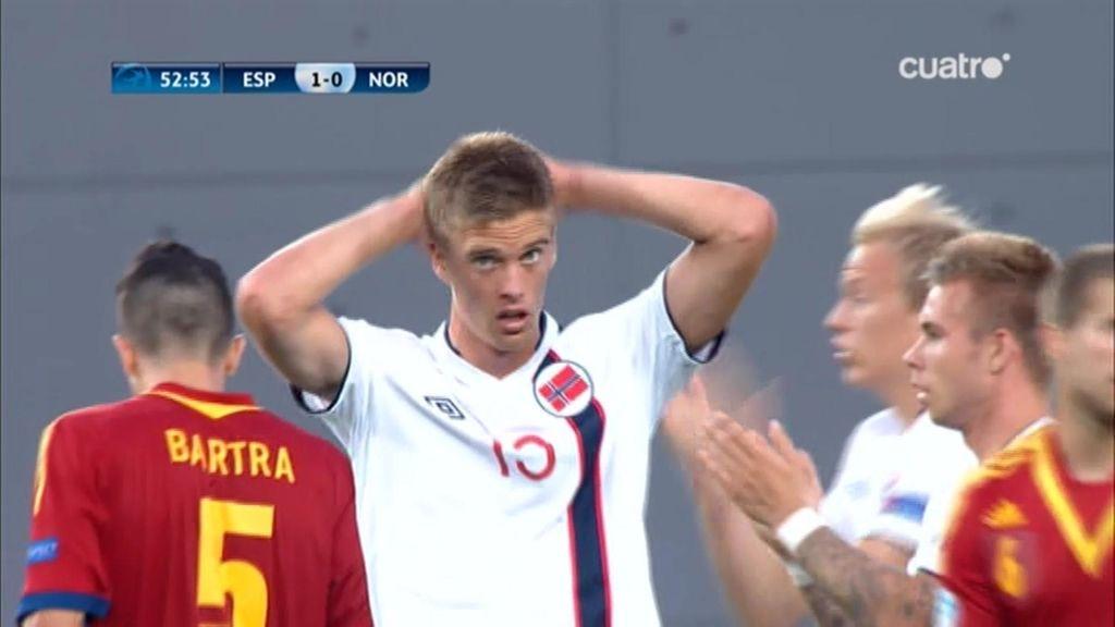 Noruega adelantó sus líneas en la segunda parte y tuvo ocasiones