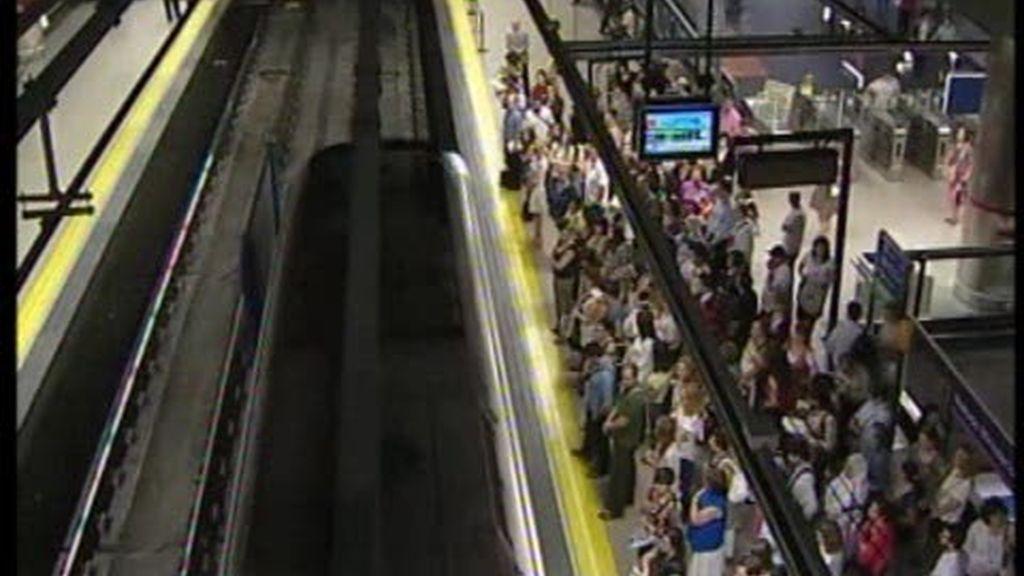 Una huelga de metro aparentemente tranquila