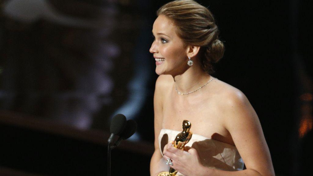 Jennifer Lawrence agradece su Oscar como  mejor actriz