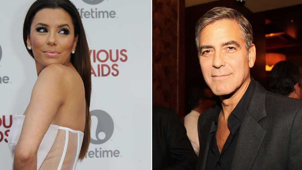 Eva Longoria da calabazas a Geroge Clooney