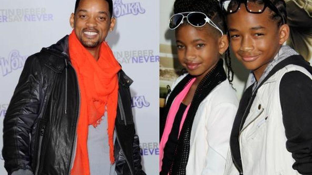 Will Smith con sus hijos, Trey y Jaden