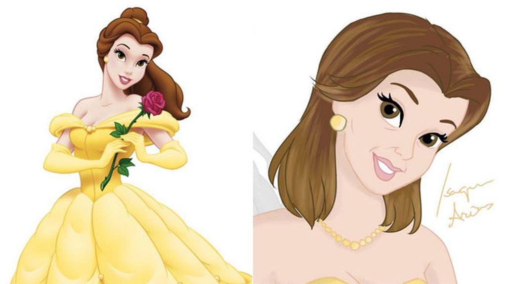 Igual de 'Bella', luciendo perlas y vistiendo de amarillo a sus 41 años (1991).