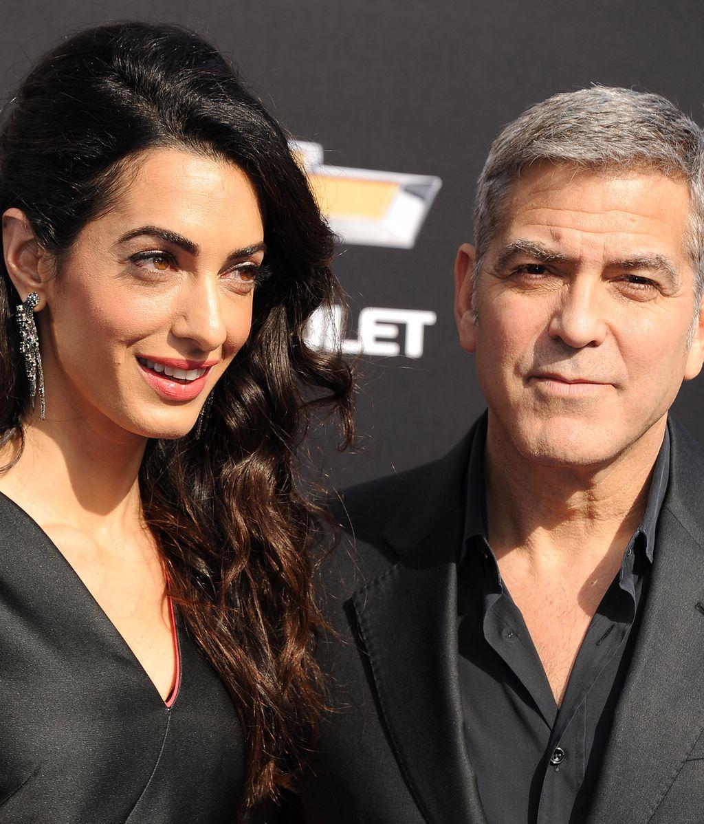George Clooney y su mujer