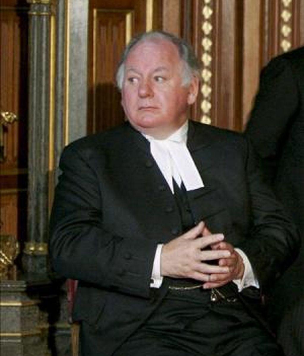 Fotografía de archivo del 9 de noviembre de 2005 que muestra al presidente de la Cámara de los Comunes, Michael Martin. Foto: Archivo.