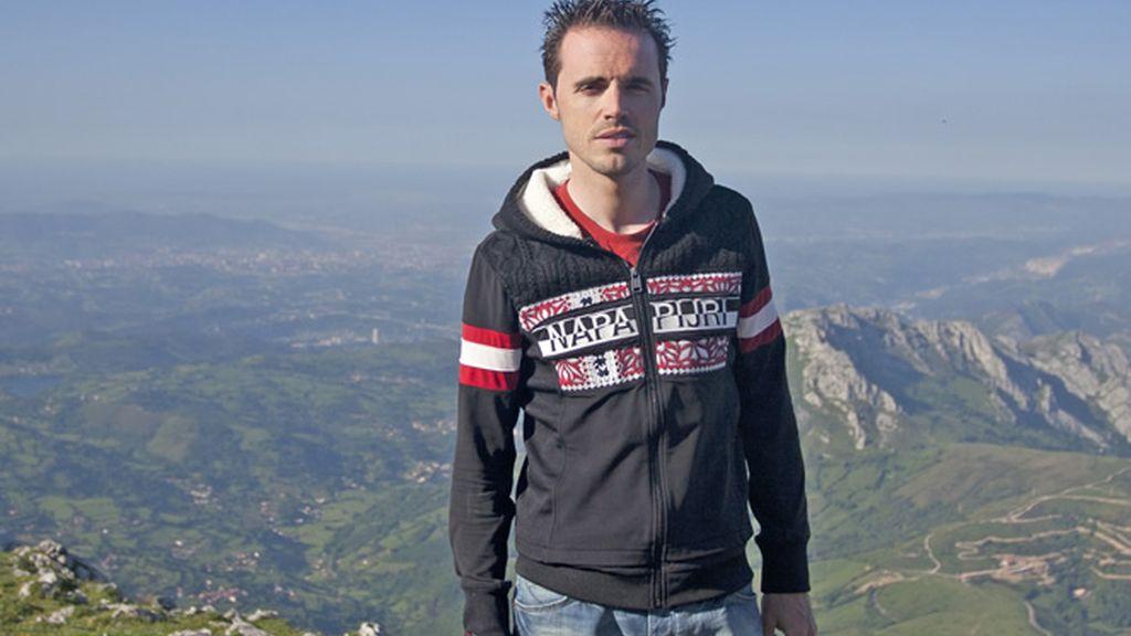 La Sierra del Aramo es la vista favorita del ciclista asturiano Samuel Sánchez