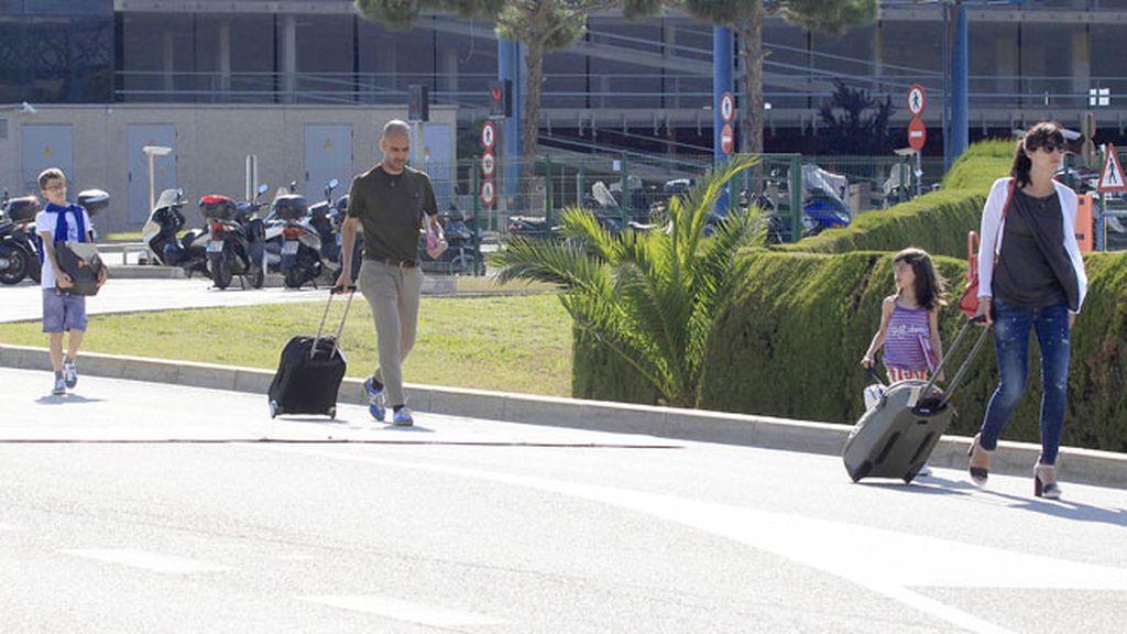 Guardiola y su familia vuelven de Marrakech