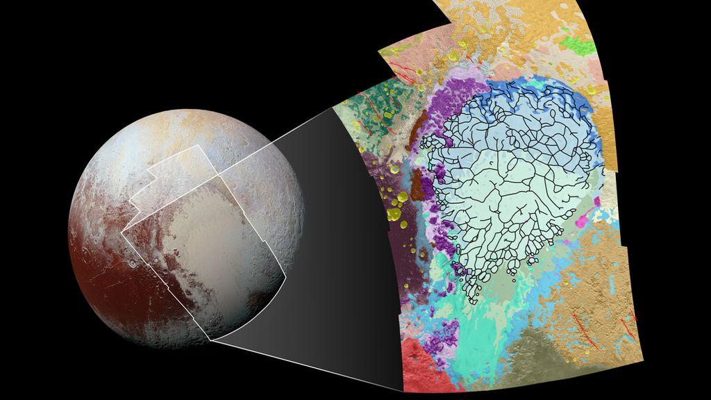 Mapa geológico de Plutón