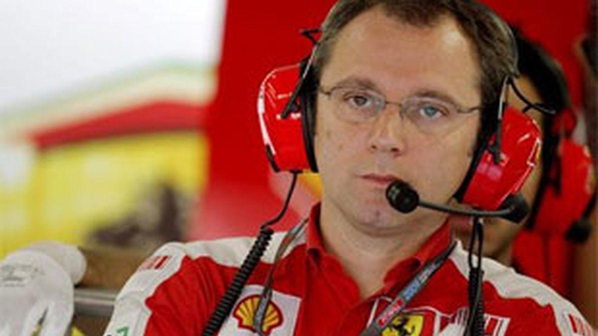 Imagen de archivo de Stefano Domenicali, jefe del equipo Ferrari. Foto: EFE.