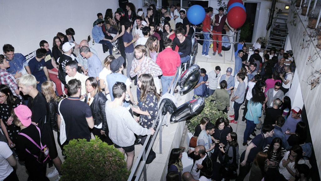 La terraza fue el lugar ideal para charlar en la fiesta de Reebok