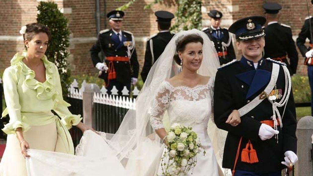 27-08-2005 Anita Van Eijk y el príncipe Pieter Christian de Holanda/ Noordwijk (Holanda)