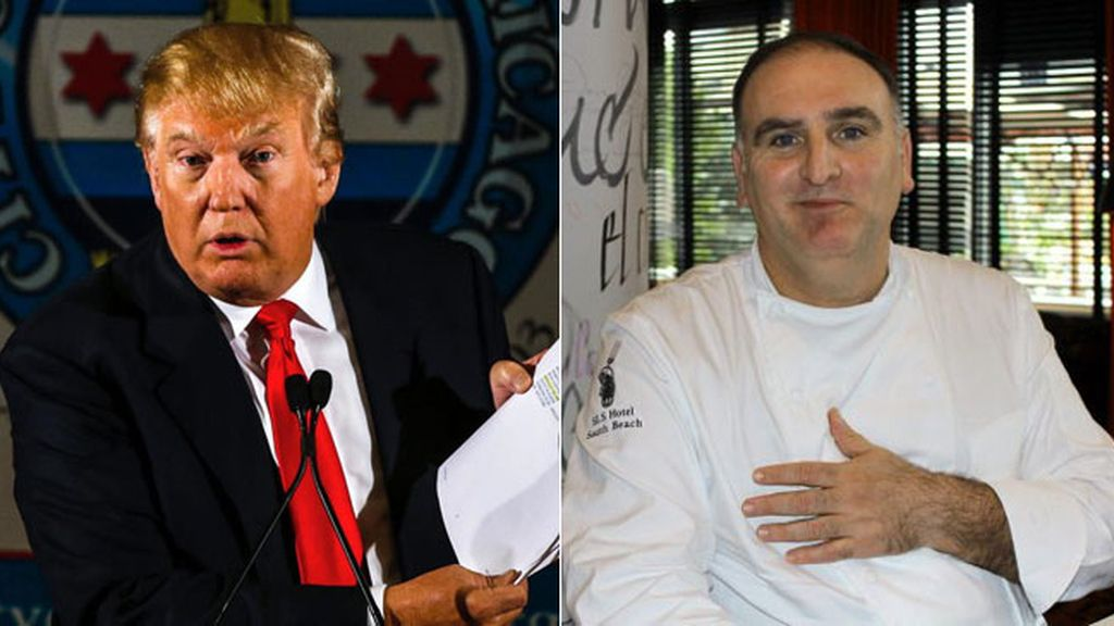 Donald Trump demanda al chef José Andrés por 10 millones de dólares
