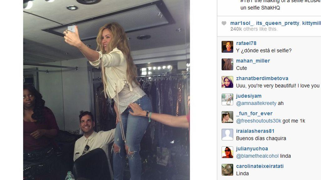 Shakira presume de figura