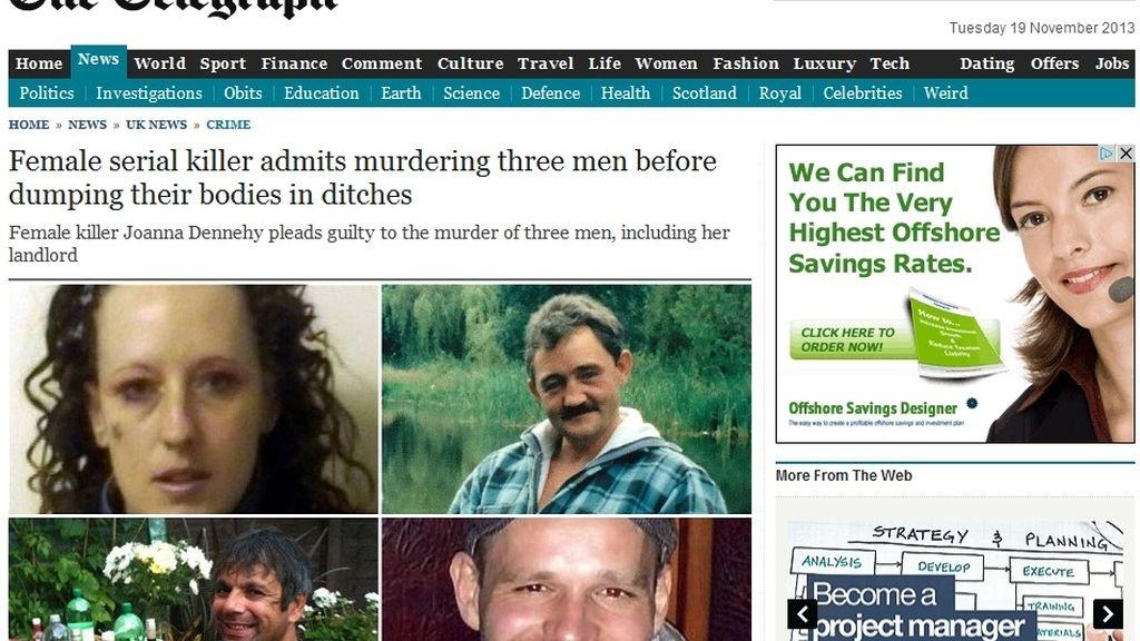 Joanna Dennehy, asesina en serie, admite los crímenes