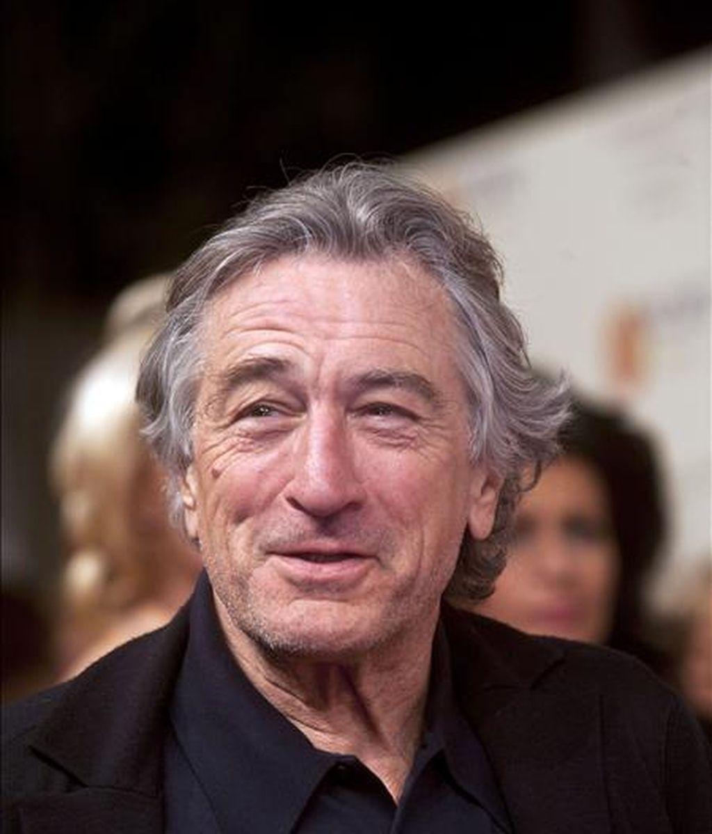 El actor, productor y realizador estadounidense Robert de Niro será el presidente del jurado del 64 Festival de Cannes, que se celebrará entre el 11 y el 22 de mayo, anunciaron hoy sus organizadores en un comunicado. EFE/Archivo