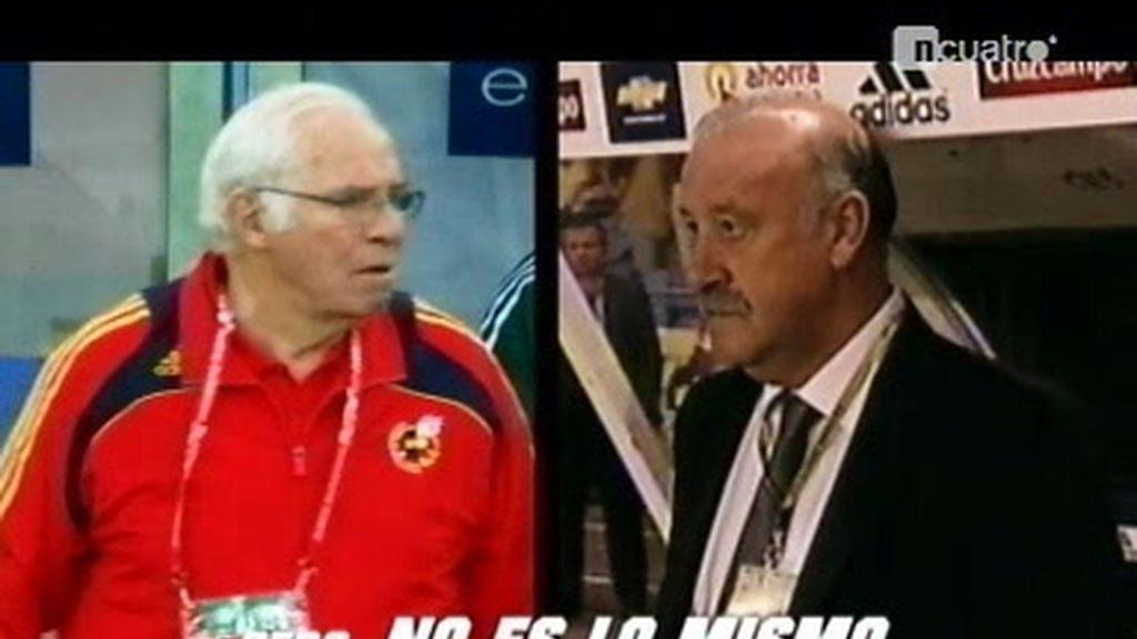 Las diferencias entre Luis Aragonés y Vicente del Bosque