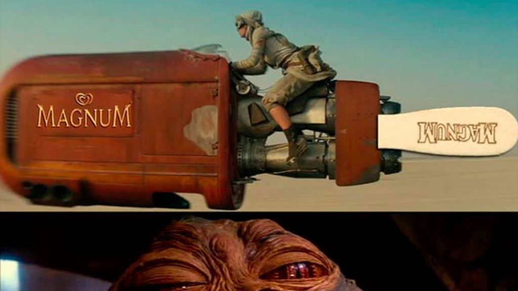 La moto-helado de Rey y el hambriento Jabba el Hut