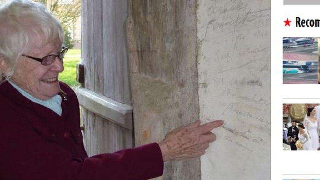 Encuentra 71 años después la nota que escribió su marido durante la Segunda Guerra Mundial