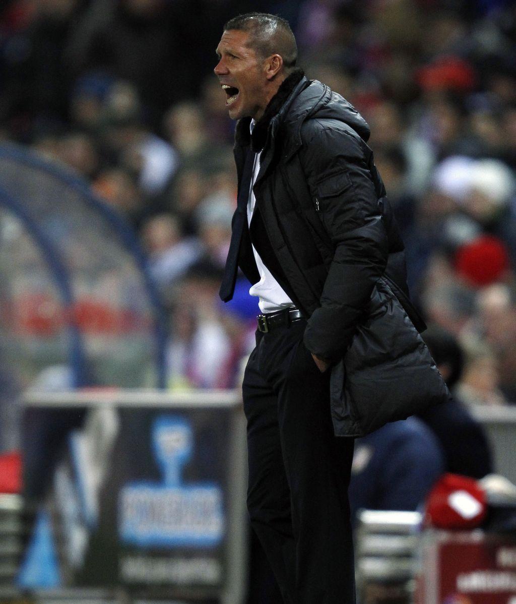 El Cholo Simeone en un partido con el Atlético de Madrid